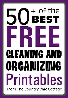 50 free cleaning and organizing printables
