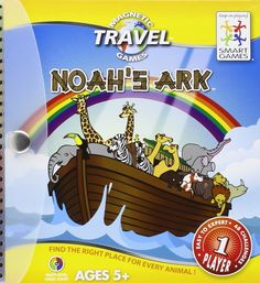 Smart Games Noah's Ark Magnetic Travel Puzzle Game: Amazon.co.uk: Toys & Games