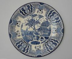 Shan Tung Wall Plaque Frederick Rhead Country Blue, Wall Plaques, Sons, Blue And White, Ceramics, Ceramica, Pottery, My Son, Ceramic Art