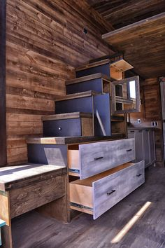 "This is Andréanne and Nathaniel's Tiny House built by Lumbec Inc. Please enjoy, learn more, and re-share below. Thanks! Related: ""Azure"" Lumbec Coach House Kit Couple's Lumb…"