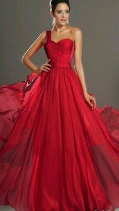 Red prom dress one shoulder long chiffon prom dresses formal evening dress/cocktail dress/homecoming dress/celebrity dress off discount Elegant Dresses, Pretty Dresses, Formal Dresses, Dresses 2014, Dresses Dresses, Homecoming Dresses, Bridesmaid Dresses, Dress Prom, Belle Silhouette