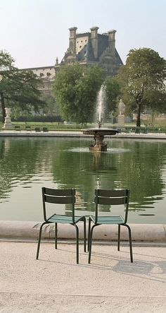 Two Chairs - Tuileries Gardens - Paris, France