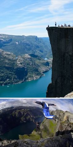 Cliff Base Jumping (Norway)