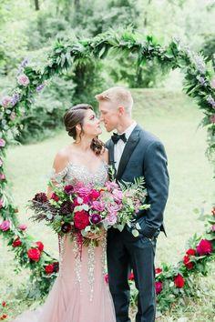 A St. Louis Fairytale Proposal - STL Wedding Venue - St. Louis Wedding Venues - Giant floral ring
