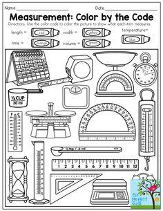 Grade Measurement Worksheets To Free. Grade Measurement Worksheets - Grade Math Worksheet For Kids - Math Worksheet for Kids First Grade Measurement, Measurement Kindergarten, Second Grade Math, Kindergarten Math, Teaching Math, Preschool Math, Teaching Technology, Math Math, Guided Math