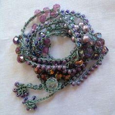 Sea foam green lavender crystal and lilac by LisasWishingWELL