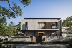 Bungalow House Design, House Front Design, Facade Design, Fence Design, Modern Tropical House, Modern House Plans, Facade House, Architect Design, Apartment Design