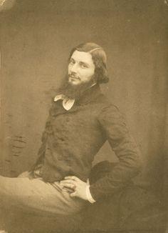 Victor Laisne (1825-1897), Portrait du peintre Gustave Courbet à l'âge de 34 ans - 1853
