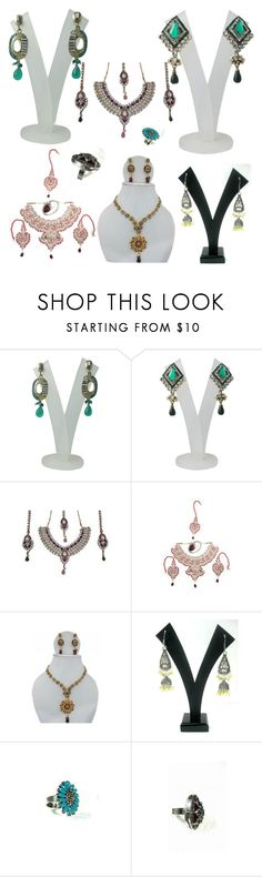 """Cosmic Indian Ethnic Jewelry"" by era-chandok ❤ liked on Polyvore featuring Retrò, jewelry, bridaljewelry and beadedjewelry"