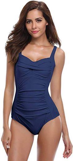 SHEKINI Bikini Femme Body Guide Push up Maillots de Bain Femme 1 Pièce  Monokini Rembourré Beachwear d5eea3c0c01