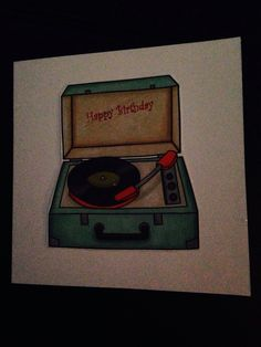 Birthday card using hipster papers, my older brother is a DJ so fits the bill!
