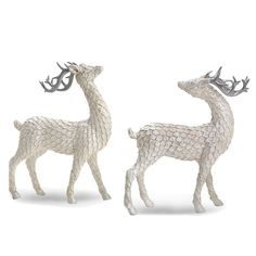 Frosted Deer 2-piece Figurine Set by Lenox