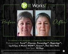 Check out these ultimate results from using a combination of our products! You can learn more about these products on our website!