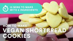 Vegan Shortbread Cookie Recipe using 4 Ingredients Vegan Shortbread, Shortbread Cookies, Pecan Nuts, Why Vegan, Vegan Butter, Vegan Baking, 4 Ingredients, Melting Chocolate, Recipe Using