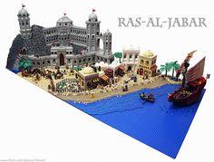 Ras-al-Jabar by Fianat Chateau Lego, Lego Knights, Amazing Lego Creations, Lego Modular, Lego Castle, Lego Worlds, Lego Architecture, Lego Design, Cool Lego