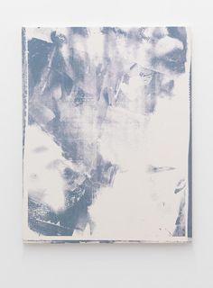LUKE DOWD  Blue (2), 2011  Acrylic on canvas  80 x 60 cm
