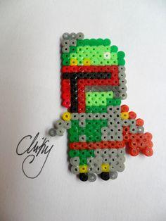 Boba Fett (Star Wars) /  Perler Beads - Hama perlen - Bügelperlen