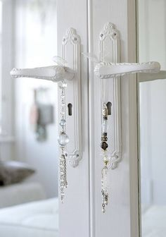 The Paper Mulberry: Perfectly Pale. not color but door handles for den doors White Cottage, Rose Cottage, White Armoire, Paper Mulberry, Door Knobs And Knockers, Shades Of White, White Houses, Interior Inspiration, Door Handles