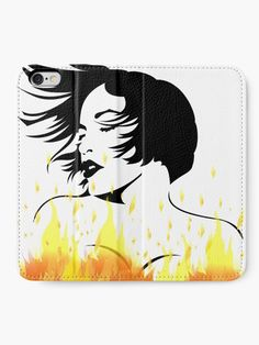 """""""Flaming Hot Pop art Girl, sexy vector stencil artwork"""" iPhone Wallet by cool-shirts 