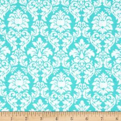 Michael Miller Petite Paris Petite Dandy Damask Aqua from From Michael Miller, this cotton print is perfect for quilting, apparel and home decor accents. Colors include white and aqua. Blue And White Fabric, Doll Quilt, Michael Miller, Baby Crafts, Room Colors, Fabric Painting, Aqua, Turquoise, Dandy