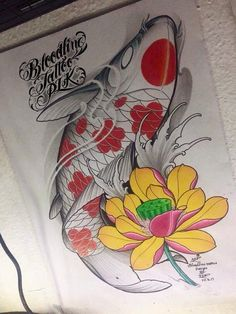 I truly like the colours, outlines, and depth. This is certainly a really great choice if you want a Koi Tattoo Sleeve, Carp Tattoo, Fish Tattoos, Lotus Tattoo, Japanese Koi Fish Tattoo, Koi Fish Drawing, Weird Drawings, Fish Drawings, Amor Tattoo