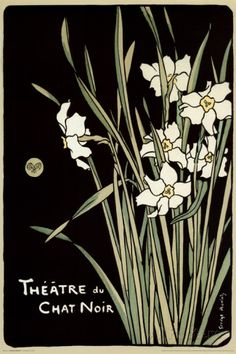 Theatre Du Chat Noir (Flowers) Posters at AllPosters.com