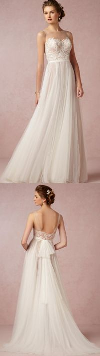 Gorgeous wedding gown by @bhldn.   I don't know about this waistline on me but this is so pretty.