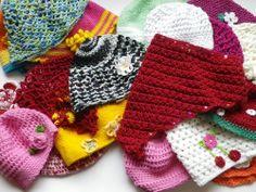 28 Spar-Paket Häkelmütze/Kopftücher für Baby und Kind. Handarbeit.