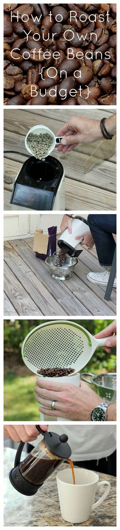 What a unique way to roast coffee beans! This is the perfect way to make the most delicious cup of coffee ever!