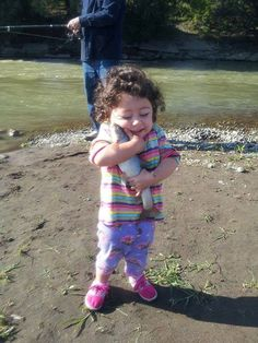You will never love anything more than this little girl loves her fish! Adorable!