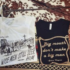 Jesus & John Wayne graphic tees - doesn't get better than that!