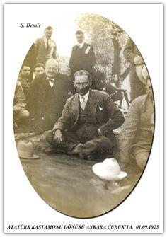 ATATÜRK KASTAMONU DÖNÜŞÜ ANKARA ÇUBUK'TA.  01.09.1925