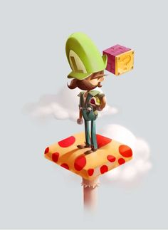 Cutesy Game Avatar Art  Andrew Wilson Depicts Classic Nintendo Characters in a Pseudo-3D Style