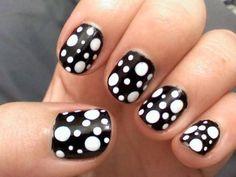 Black And White Fingernail Designs