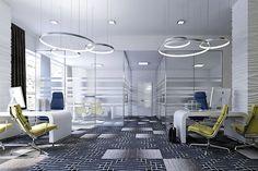 Modern Office Design #AscendApollo #Vidazme #InteriorDesign #InteriorArchitecture #ModernInterior #LobbyDesign #MultiFamily