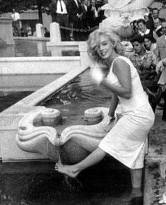 Marilyn Monroe: Marilynsurrounded by fans in front of The Plaza Hotel, NYC June by Sam Shaw Divas, Cinema Tv, Marilyn Monroe Photos, Marlene Dietrich, Norma Jeane, Brigitte Bardot, Poses, Vintage Hollywood, Bombshells