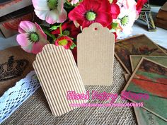 Wholesale Scallop Kraft + Corrugated paper Blank Hang tag, Retro DIY Gift tag, Table Number cards, 200pcs/lot Free Shipping -in Packaging Labels from Industry & Business on Aliexpress.com