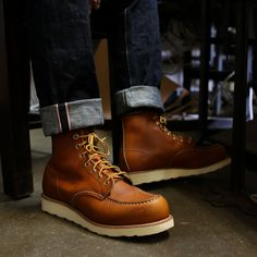 Restock in Red Wing Moc Toes! Made in USA Oro Legacy leather. Denim Boots, Leather Boots, Red Wing Moc Toe, Abercrombie Men, Red Wing Boots, Shoe Wardrobe, Mens Boots Fashion, Shoe Boots, Shoes