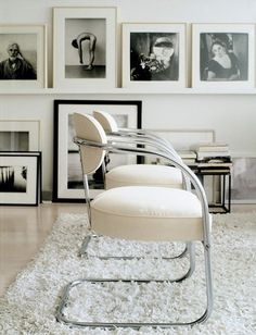 Backdrop and Cantilever Chair