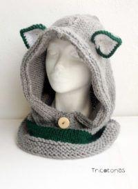 Gorro bufanda zorro gris Un gorro tipo capucha con orejas de zorro en color  gris y verde. 2116d294ee3