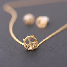 :: peace necklace-in plated gold