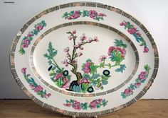 Vintage John Maddock & Sons Ltd Royal Vitreous 'Indian Tree' Made in England Serving Platter by LittlemixAntique on Etsy