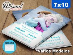 CFRZ05 - Convite Frozen 7x10cm
