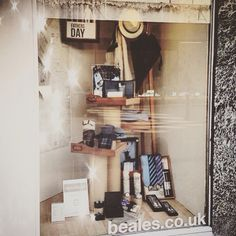 Window display for Fathers Day Beales of Mansfield #vm #display