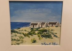 Arniston.  Acrylic on boxed canvas, framed. 300x300mm. R450