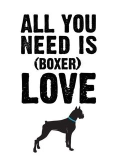 all you need is (boxer) love 5x7 cute silhouette art print gift for dog lovers personalized custom. $10.50, via Etsy.