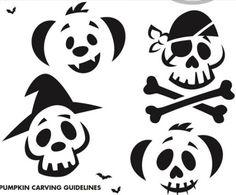 Pumpkin Carving Printable Stencils
