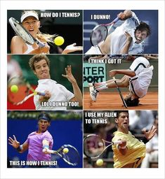 #1 Andy Murray and old man in his tennis bag.#2 Top tennis players show you how to play tennis.#3 Playing tennis in public courts.#4 Close up pictures of tennis players#5 Andy Murray has the best answer to eat strawberries correctly.imgur#6 Someone gave a tennis ball to a... #tennishowtoplay