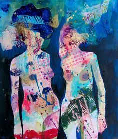 """Saatchi Art Artist Izabella Hornung; Painting, """"Don't put your heads in the cloud, because it will rain."""" #art"""