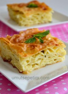 Pastry Recipe with Macaroni Pastry Recipes, Cooking Recipes, Turkish Recipes, Ethnic Recipes, Oven Dishes, Tasty, Yummy Food, Bread And Pastries, No Dairy Recipes